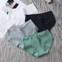 Celana Dalam Wanita Polos Renda/ Celana Dalam Wanita Import