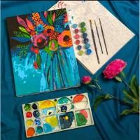 Bartega Paint By Number Kit : Jar of Blooms
