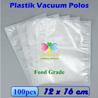 Plastik Vacum Bag Polos 12 x 16 cm, Plastik Vakum Bag Sealer