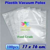 Plastik Vacuum Bag Polos 11 x 16 cm, Plastik Vakum Bag Sealer - 1Pak isi 100pcs