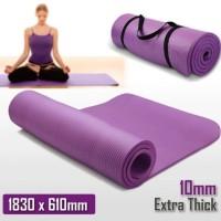 Premium Matras Yoga Mat 6mm x 183cm x63 Senam Matt Pilates PVC Camping