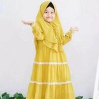 Canda Kids Baju Muslim Gamis Anak Perempuan Usia 5-6-7 tahun