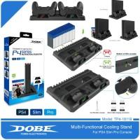 Vertikal Stand/Cooling Fan/Charger PS4 Slim/Pro Dobe