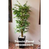 Pohon Bambu Plastik Artificial Palsu 120 cm/Pohon Sudut/Bunga Plastik
