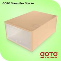 Goto Stacko Kotak Sepatu Lipat Storage Shoe Box Portable