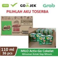 Susu Milo Kotak Coklat ACTIVE GO UHT - 110 ml (1 dus isi 36 kotak)