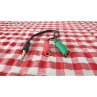 Splitter Audio Cable 3.5mm Male to 3.5mm HiFi Microphone and Headphone