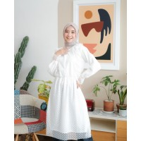 Atasan Wanita Muslim Terbaru | Isabella Tunik | Tile Polkadot