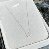 Clover Diamond Pendant - White Gold