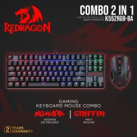 Redragon Gaming Keyboard Mouse 2 in 1Combo - K552RGB-BA