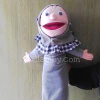 Boneka Muppet Karakter Santri Putri Baju Bisa Dilepas Hand Puppet