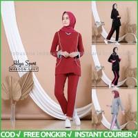 Baju Senam Wanita Setelan Olahraga Muslimah Sporty Muslim HILYA AISYE