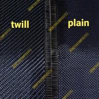 Jual Bahan Kain Serat Carbon Kevlar Fiber Fabric Hitam 3K Twill Plain