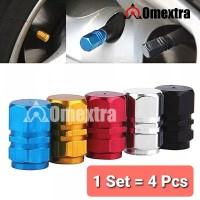 Aluminium Tutup Pentil Ban Mobil 4pcs Car Velvet Cup Omextra 1Set 4pcs