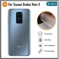 Garskin Carbon Xiaomi Redmi Note 9 Skin Anti Gores Belakang Hp