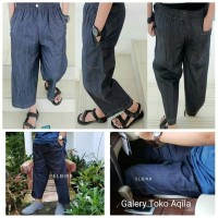 Sirwal Denim, celana sirwal denim, jeans #GTA Galery Toko Aqila