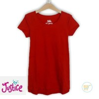TSHIRT JUSTICE RED BEAUTY BAJU BRANDED ANAK CEWE KIDS GIRL SANTAIPERGI