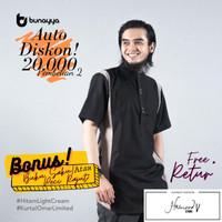 Kurta Omar Bunayya Sunnah Clothing Limited Edition Kurta Hitam Toyobo - XL