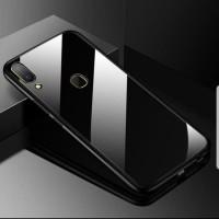 Redmi 5 Plus Back Cover Glass Case cover Anti Baret - Hitam Only