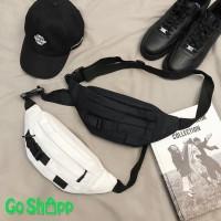 Waist Bag Unisex Kanvas Import High Quality - Waistbag Couple [WB05]