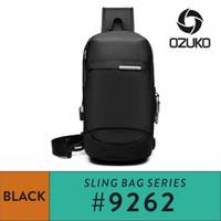 Ozuko Sling bag #9262 - Black