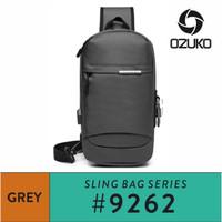 Ozuko Sling bag #9262 - Grey