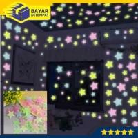 Star Wall Sticker Hiasan Dinding Stiker Bintang Glow in The Dark