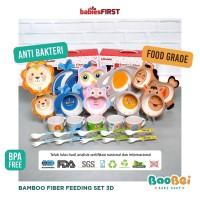 BABIESFIRST Bamboo Fiber Kids Feeding Set Zoo EditionBaby|Mangkok Anak