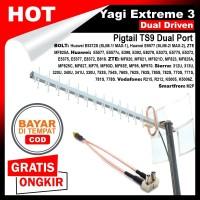 Antena Modem Yagi Extreme III Dual Driven Pigtail TS9 Dual Port - Kabel 15 Meter