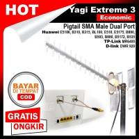 Antena Penguat Sinyal Home Router XL B310s B310 - Yagi Extreme 3 Eco