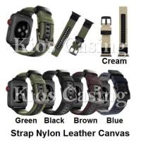 Apple Watch 42MM 44MM 42 44 MM Tali Jam Strap Nylon Leather Kulit Band