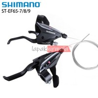Tuas Rem Shifter Shimano ST EF65 Shifter 3x9 Speed dan Handle Sepeda