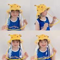 Topi anak anti corona topi giraffe pelindung plastik face shield