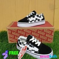 Sepatu Anak Vans Checkerboard Hitam Putih Size 21 35 Model Tali