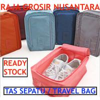 Tas Sepatu travel bag shoes pouch tas sandal kotak sepatu travel pouch - Hitam
