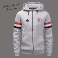 Jaket Hoodie Kupluk Distro Pria Terbaru Logo Bayern Munchen