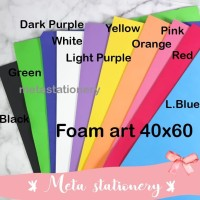 Foam Art / Kertas Busa Bazic 40x60 Pilih 1 warna