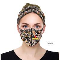 masker scuba dewasa set bandana batik mickey