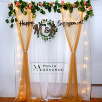 Dekorasi Lamaran Backdrop Nikahan PhotoBooth DIY Paket Pesta Mulia A - Gold