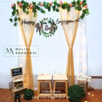 Dekorasi Lamaran Backdrop Nikahan PhotoBooth DIY Paket Pesta Mulia A