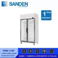 Sanden Intercool Showcase Chiller YPM-110P 2 Pintu kapasitas 660 Liter