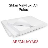 BAHAN stiker Vinyl Polos A4. isi 20 lembar