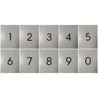 Nomor rumah akrilik / angka nomer akrilik TIMBUL 3D