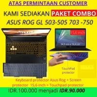 Paket Combo Asus Tuf Gaming Screen Protector Touchpad Keyboard Protect