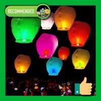 Sky Lantern - Lampu Lampion Lentera Balon Terbang Warna Warni
