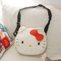 Tas HandBag Slempang Motif Hello Kitty Bludru - Tas Harian Karakter