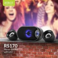 ROBOT SPEAKER RS170 ORIGINAL AUDIO PORTABLE LED AUDIO STEREO 5V USB