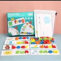 Mainan edukasi anak Belajar susun kosakata/Spelling word game