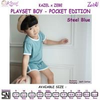 KAZEL PLAYSET BOY POCKET - STEEL BLUE