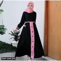 Baju gamis Muslim Wanita Remaja Dewasa Kekinian Terbaru Murah Moscrepe